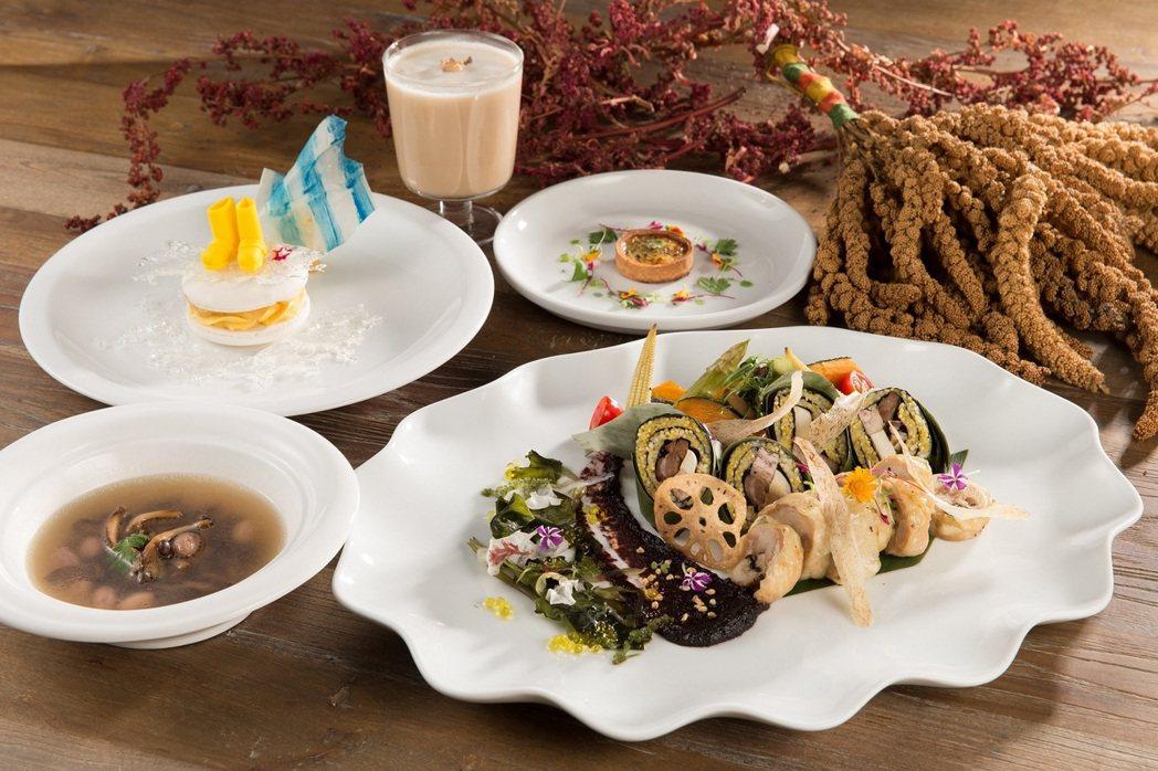 以布拉瑞揚的舞蹈創作靈感食材所創作的《漂亮漂亮》特餐。 圖/好樣VVG提供