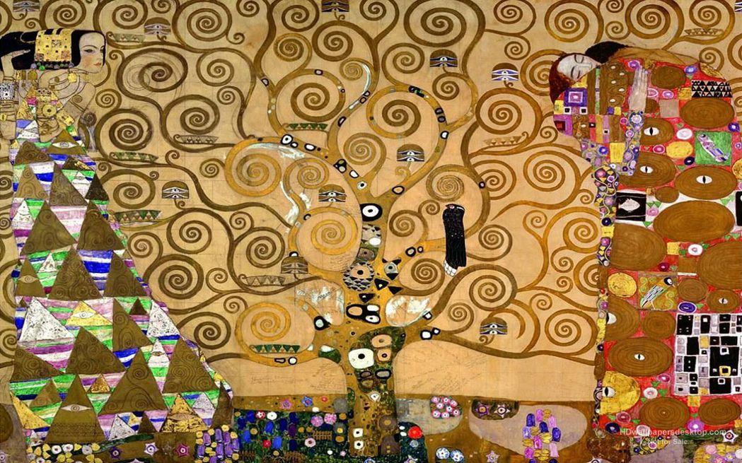 圖為古斯塔夫·克林姆於1909年創作的作品《生命之樹》。 圖/取自Gustav Klimt