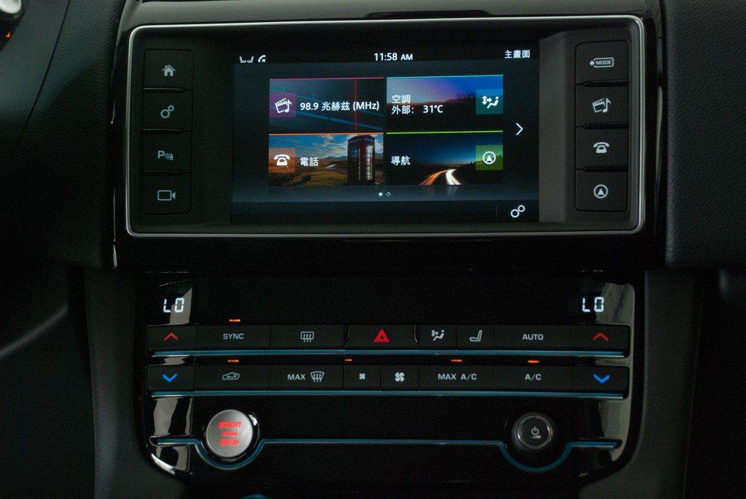 Prestige等級使用InControl Touch系統,擁有8吋智慧型觸控螢幕。記者林昱丞/攝影