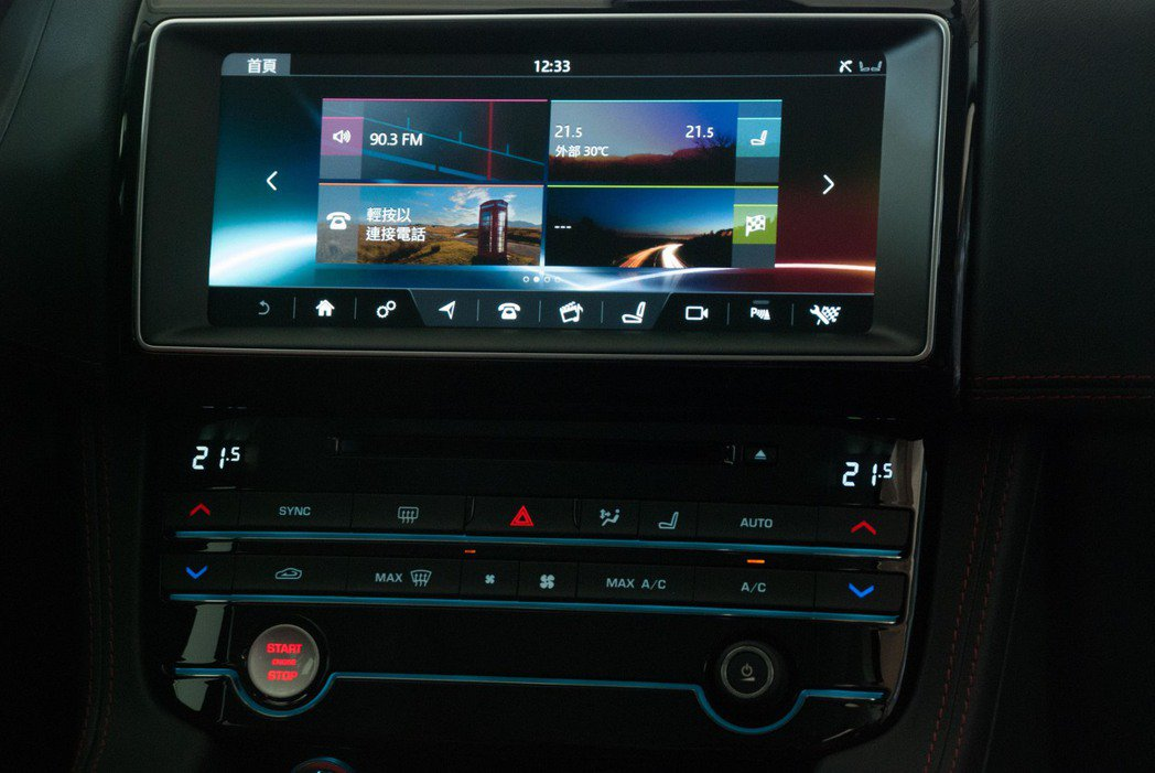 R-Sport等級以上使用InControl Touch Pro系統,擁有10....