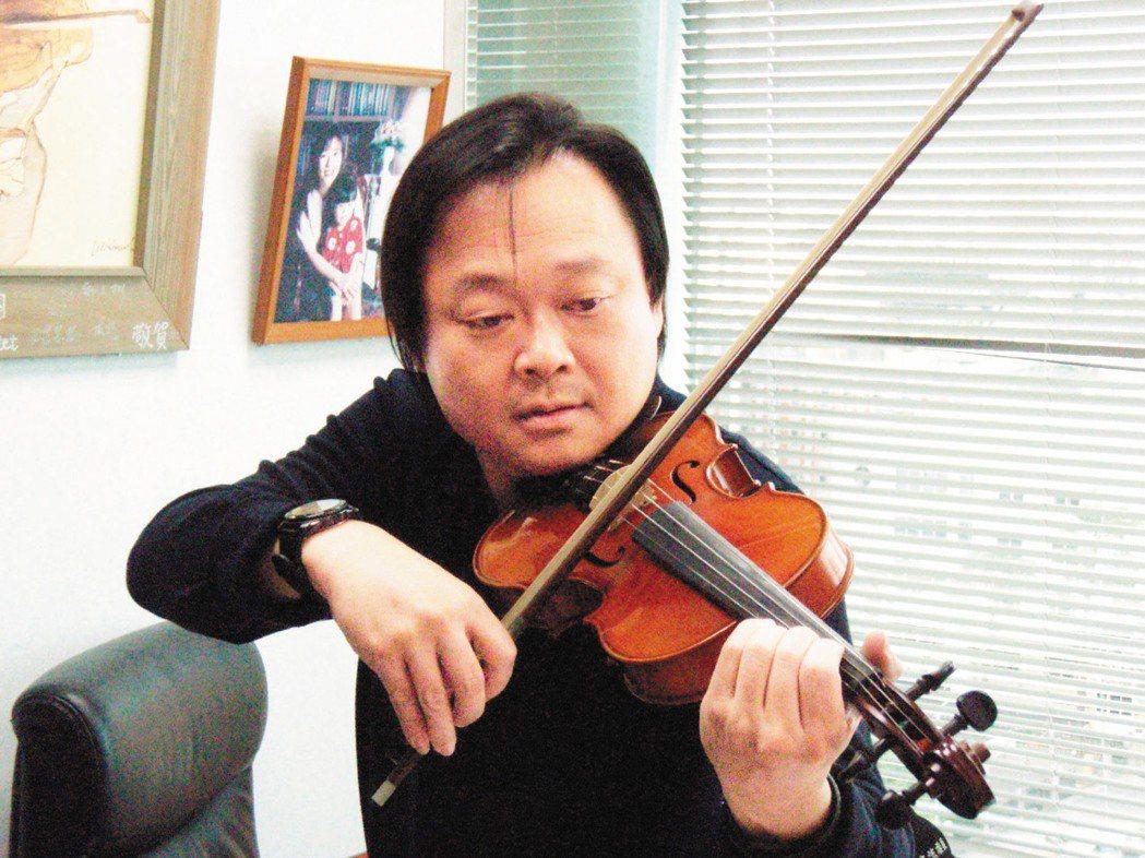 台北市議員王世堅私底下有「小提琴王子」稱號。 圖/王世堅研究室提供