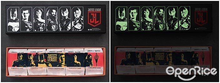 ▲禮盒外更是浮雕設計印上JUSTICE LEAGUE與正義聯盟主角,正義聯盟主角...