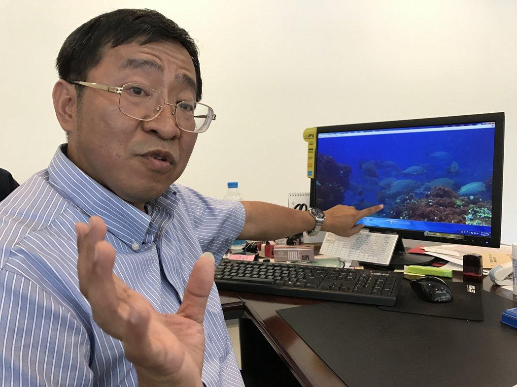 國立臺灣海洋大學海洋生物研究所教授陳義雄,在南方四島研究魚類群聚與生態,他在這裡...