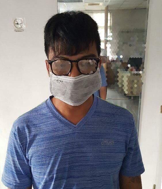 涉毒品案通緝中的尤姓男子,涉嫌當詐騙集團車手被捕。記者林保光/翻攝