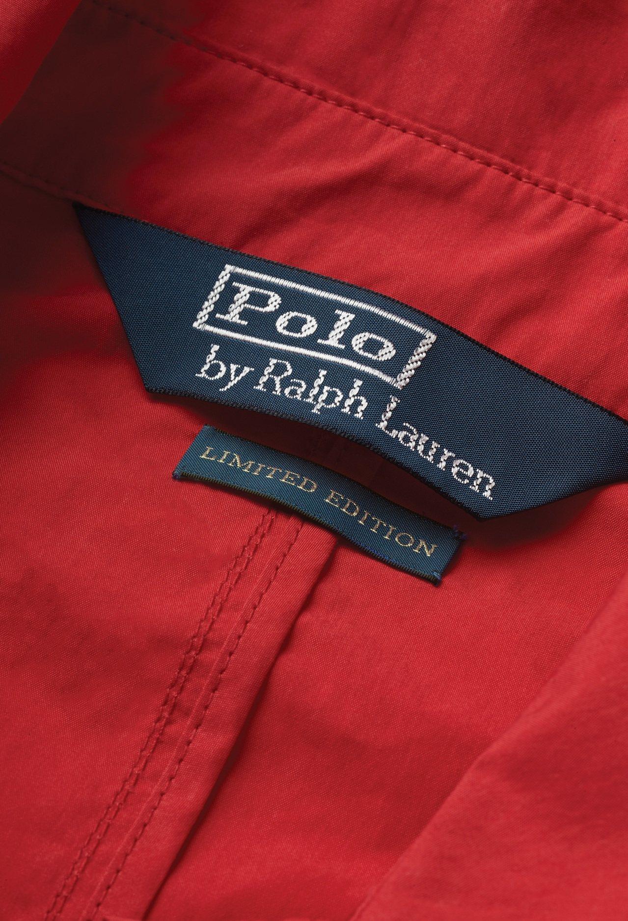 Polo Stadium系列繡有限量字樣。圖/Ralph Lauren提供
