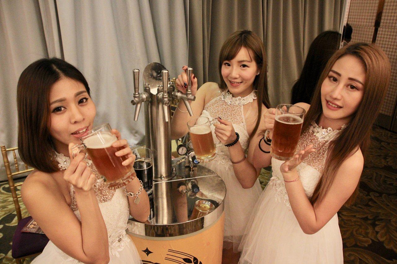 新北市經發局今年第一次辦新北啤酒節,介紹新北市在地啤酒廠商,7日至9日一連3天,...