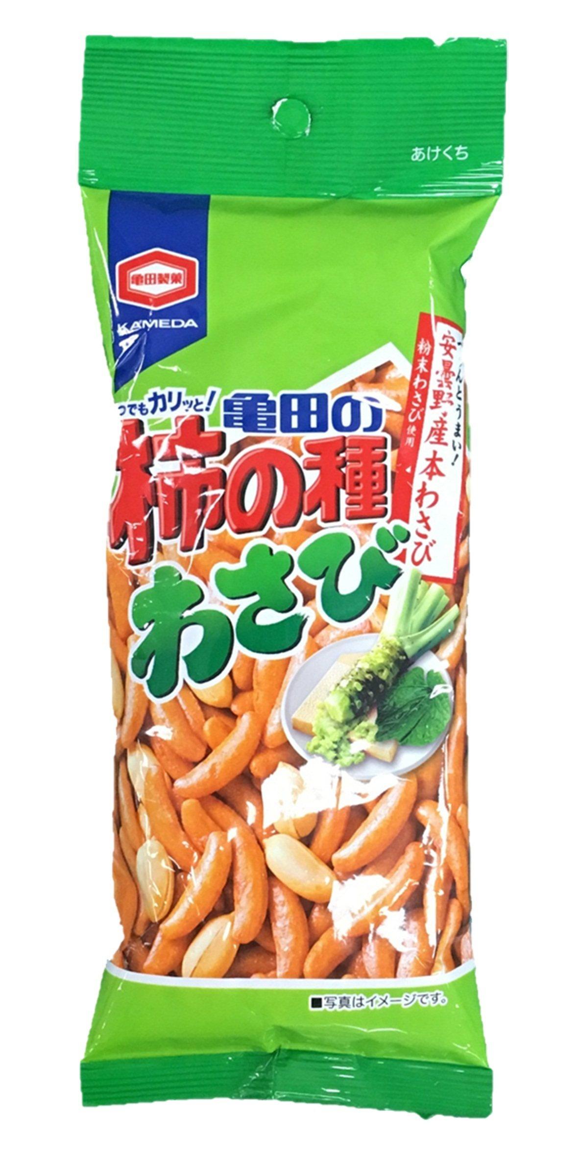 龜田製菓哇沙米米菓。圖/萊爾富提供