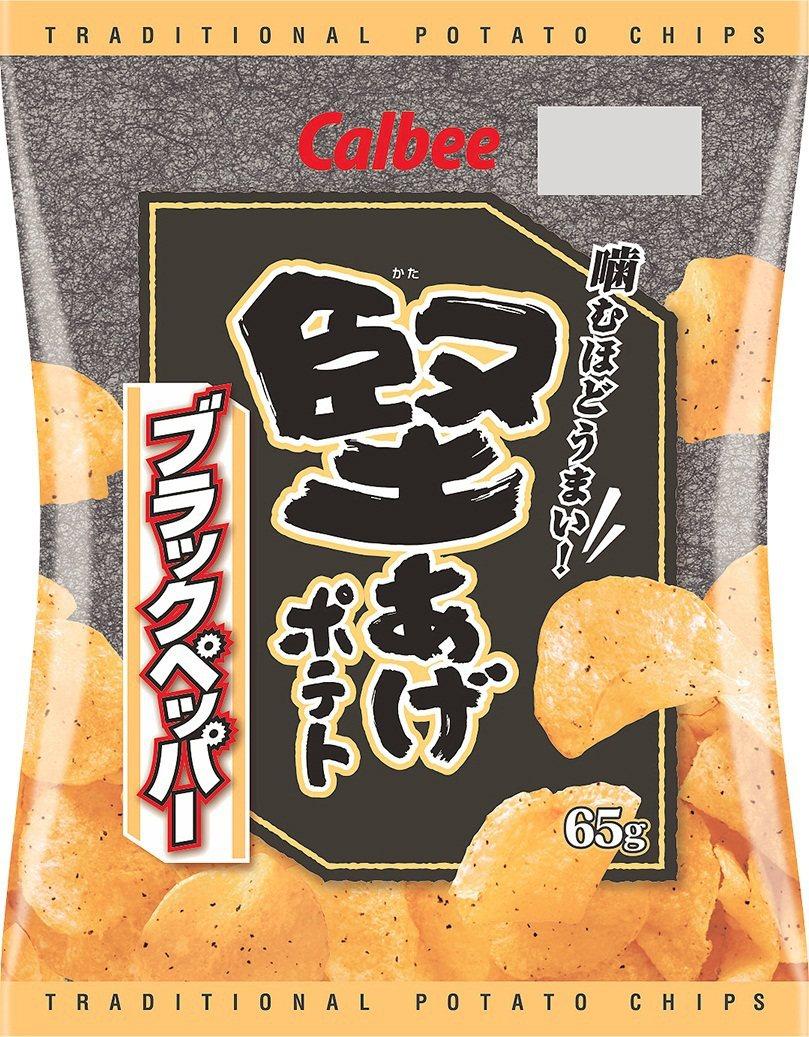 卡樂比堅脆洋芋片黑胡椒口味。圖/萊爾富提供
