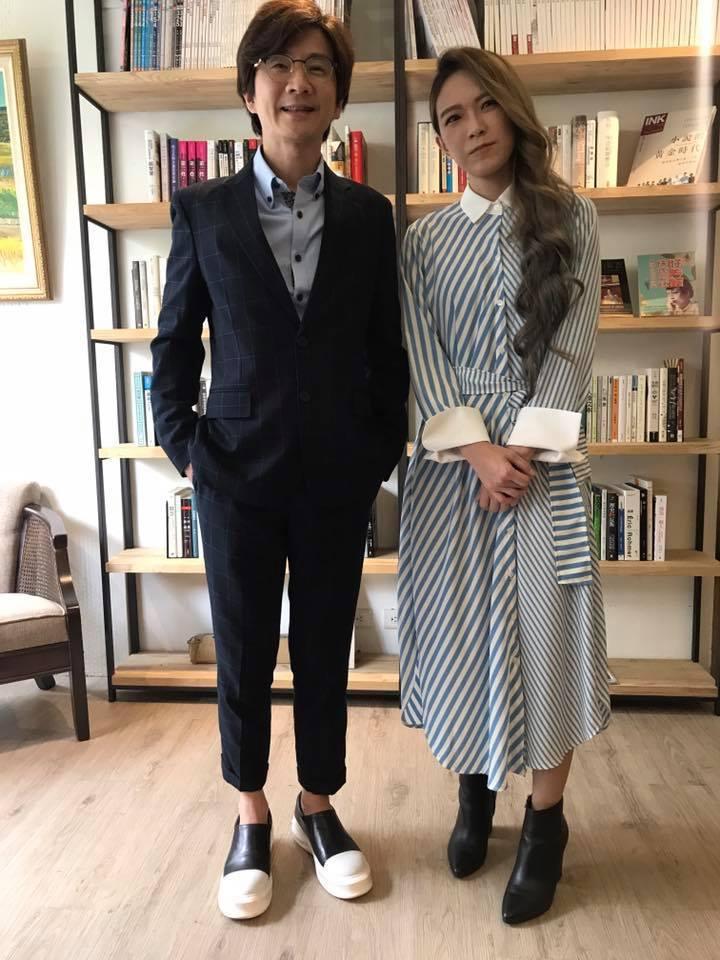 林隆璇(左)28日舉辦媒體餐敘,張芸京來站台。記者梅衍儂/攝影