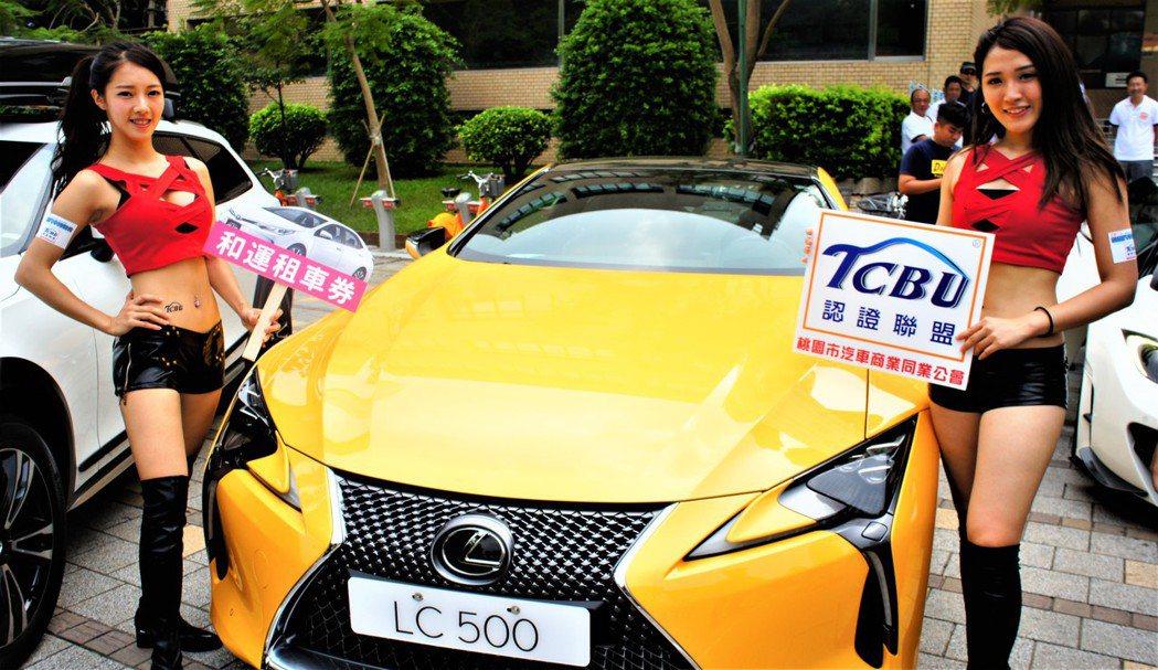 香車美人,桃園汽車博覽會雙十連假登場。記者李京昇/攝影