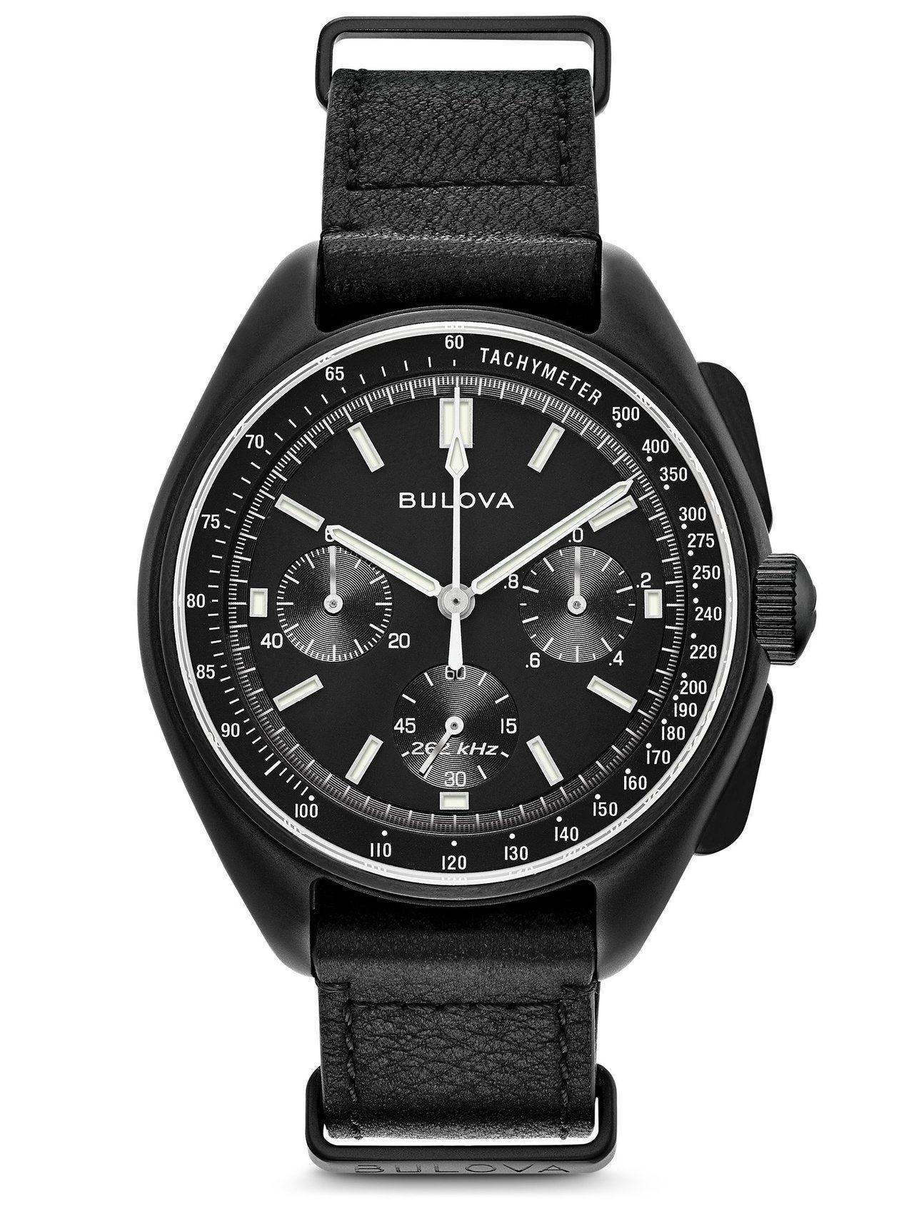 BULOVA復刻登月系列98A186計時碼表,不鏽鋼鍍香檳金表殼,約19,800...