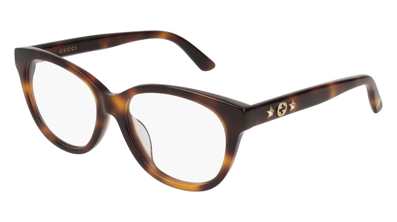 Gucci星星與蜜蜂裝飾光學眼鏡,價格店洽。圖/Gucci提供