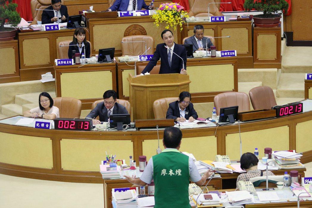民進黨議員廖本煙說,副市長李四川參選我就投他,被處分也沒有關係。記者王敏旭/攝影