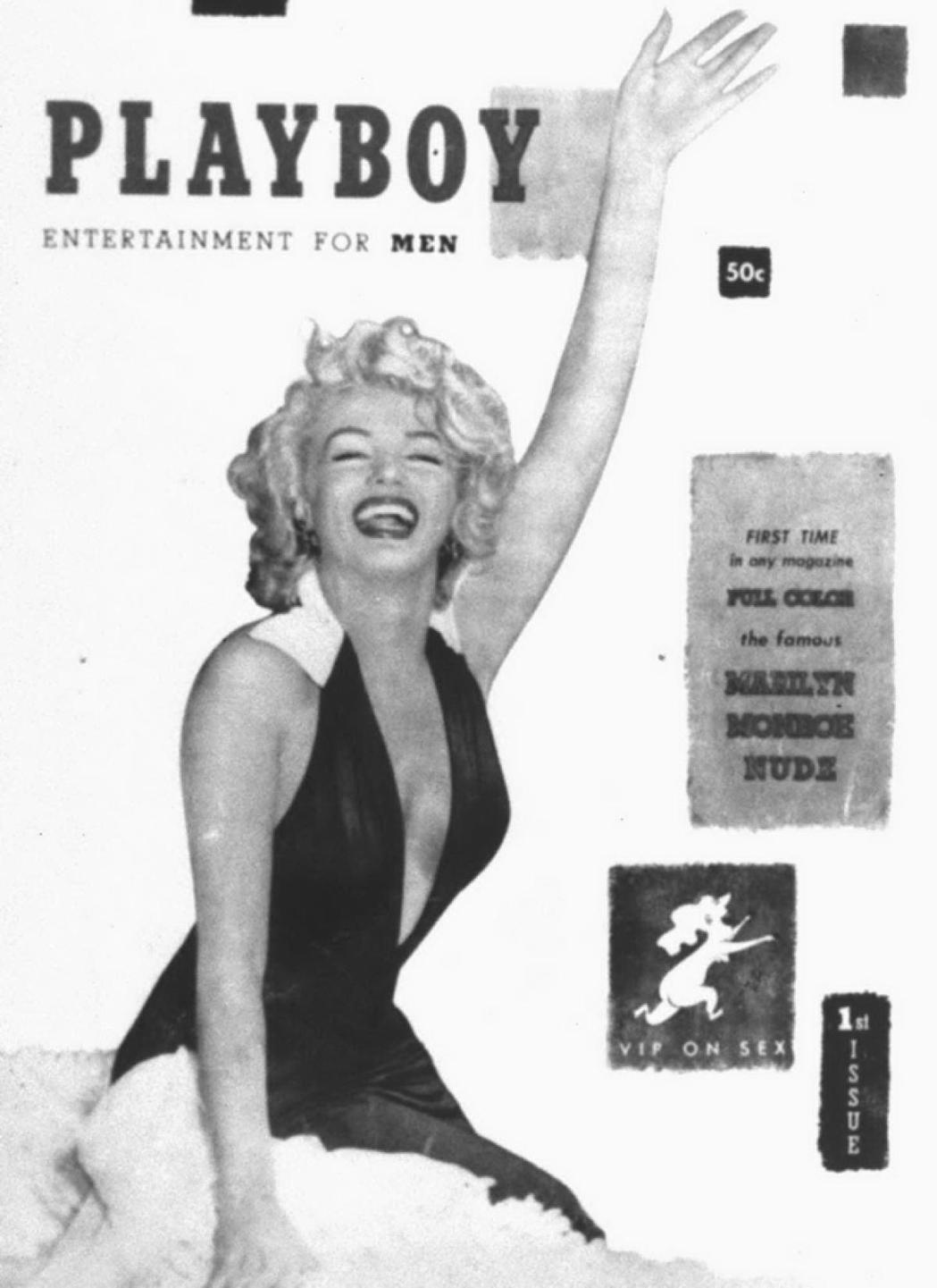 瑪麗蓮夢露是「花花公子」雜誌首期封面人物,打響第一炮。圖/摘自abc