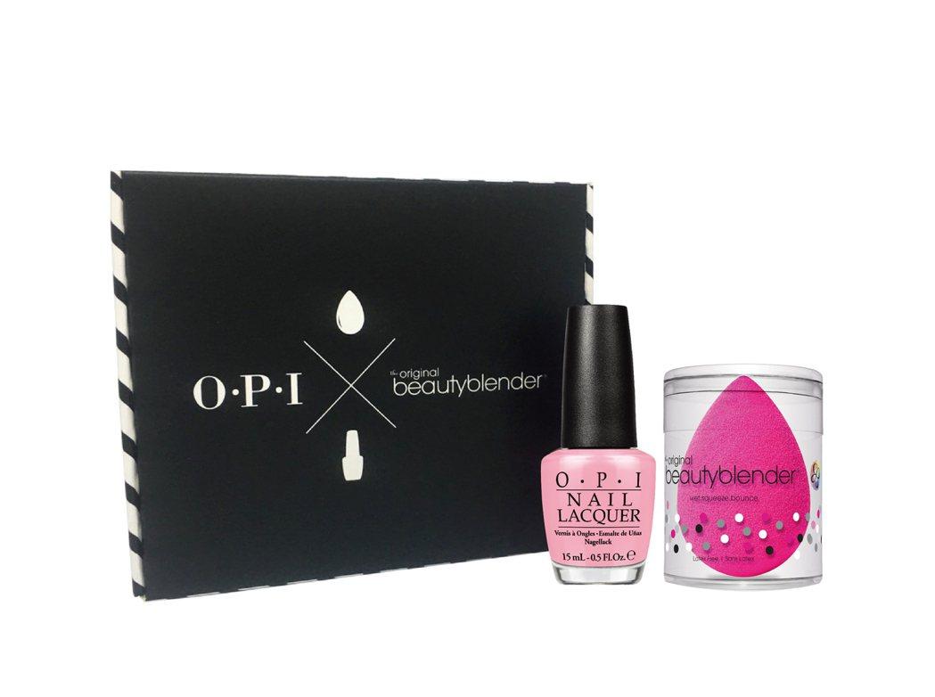 beautyblender X OPI專業訂製美妝盒,快閃限定價920元。圖/O...