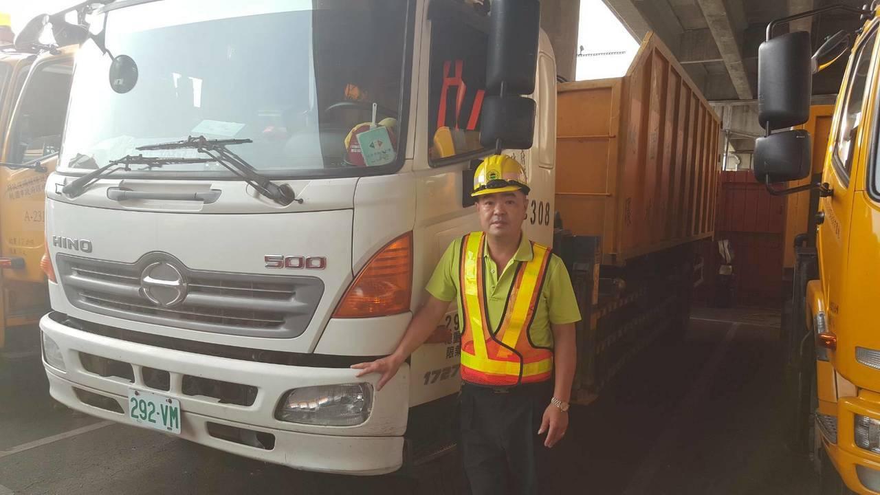 桃園區清潔隊員楊文宗,入行26年以來,協助不少台灣大型颱風災害復原工作,希望給民...