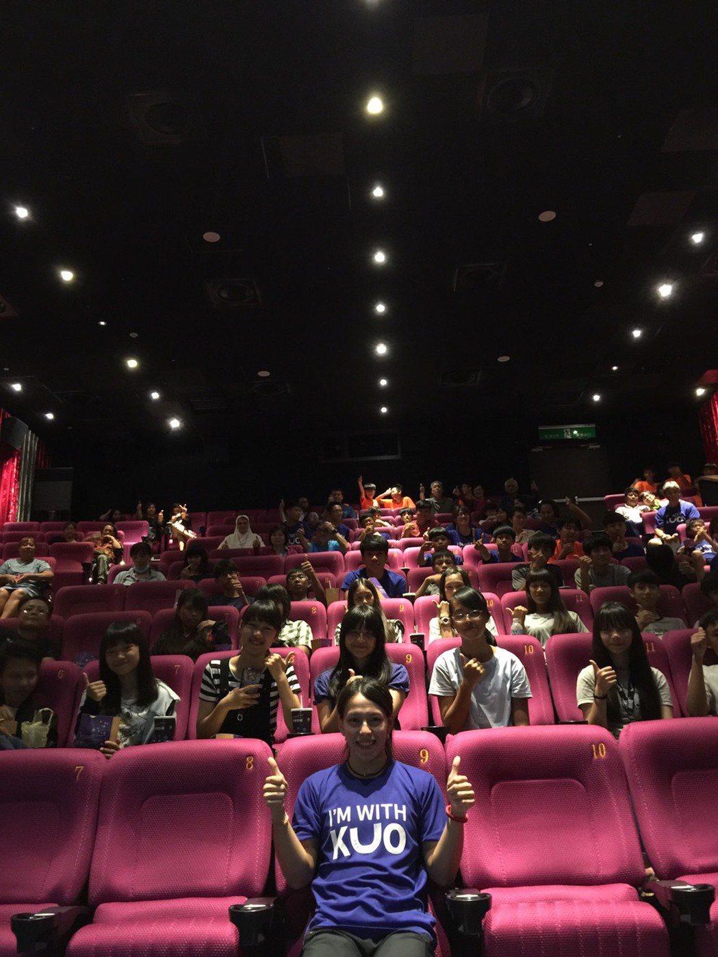 「你是我的勇氣」今晚在台東秀泰影城舉行首映。圖/CATCHPLAY提供