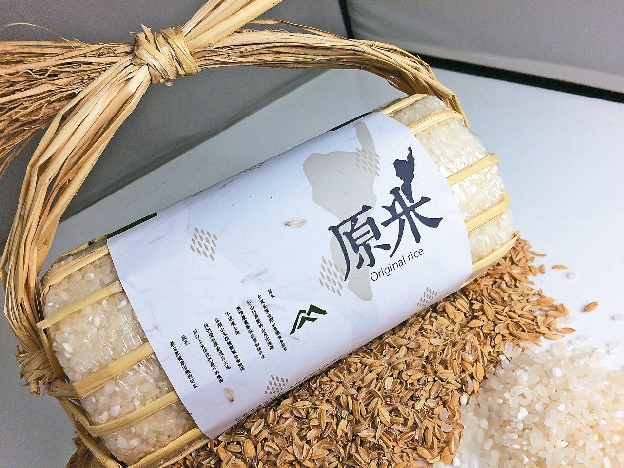 商品包裝組由楊午憲將稻梗及稻殼當包裝材料獲得首獎。 圖/台東縣政府提供