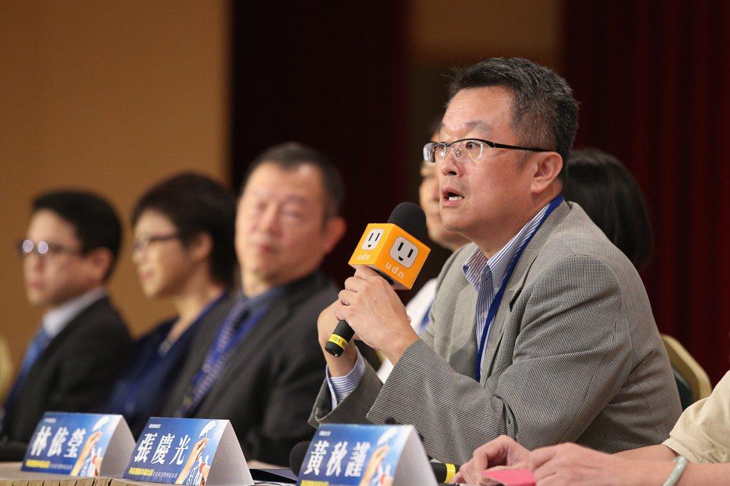 聯合報系願景工程在張榮發基金會舉辦「不長照的幸福台灣:安老資源聰明配論壇」,樂齡...