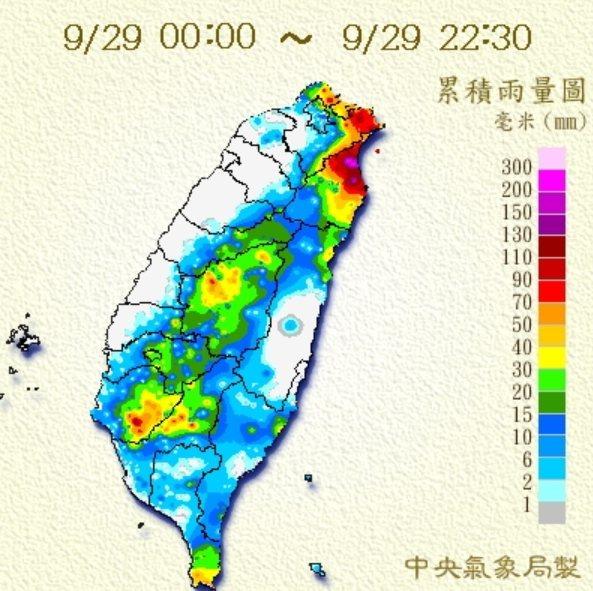 中央氣象局晚間針對宜蘭縣發布豪雨特報,今晚至明晨宜蘭縣有局部大雨或豪雨,對新北市...