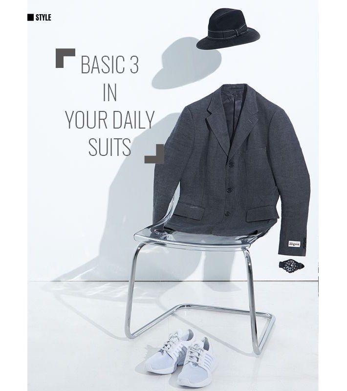 黑色緞帶紳士帽_BRIXTON/起毛灰色麻布西裝外套_NIGOLD by UNI...