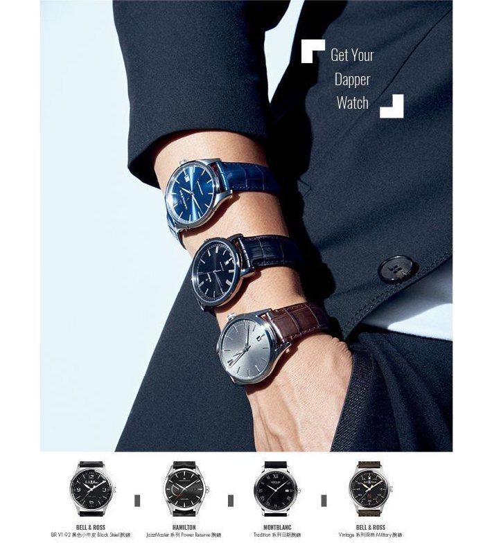 黑色西裝外套、異材質條紋西裝長褲_CK CALVIN KLEIN /(錶,由上至...