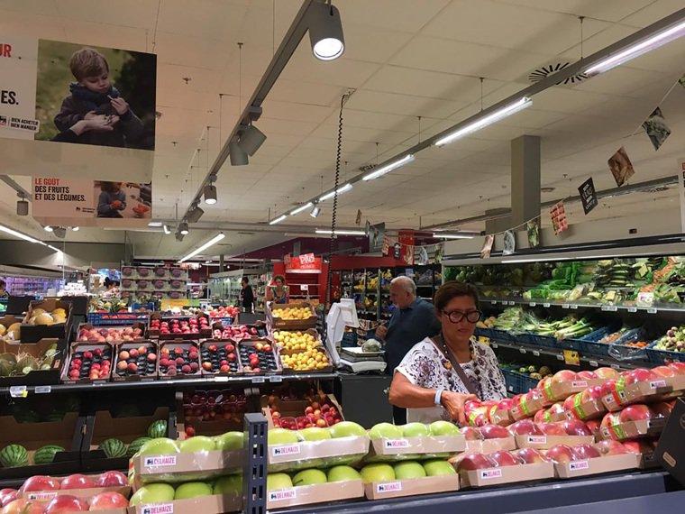 歐洲的超市。 中央社