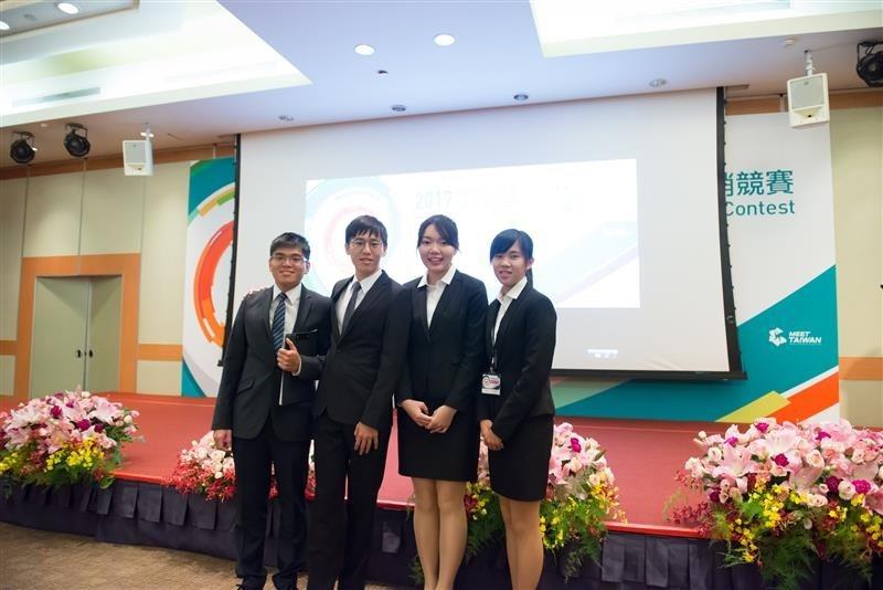 長榮大學獲中文行銷簡報佳作。 長榮大學/提供。