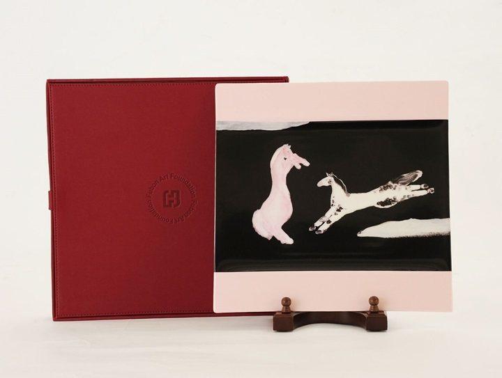 由藝術家常玉作品衍生出的四方盤商品。圖/富邦藝術基金會提供