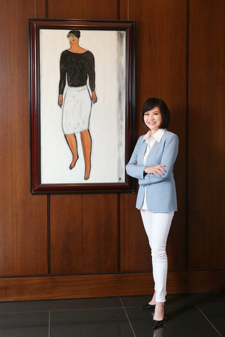聯合報專訪富邦藝術基金會執行長翁美慧。圖/記者王騰毅攝影
