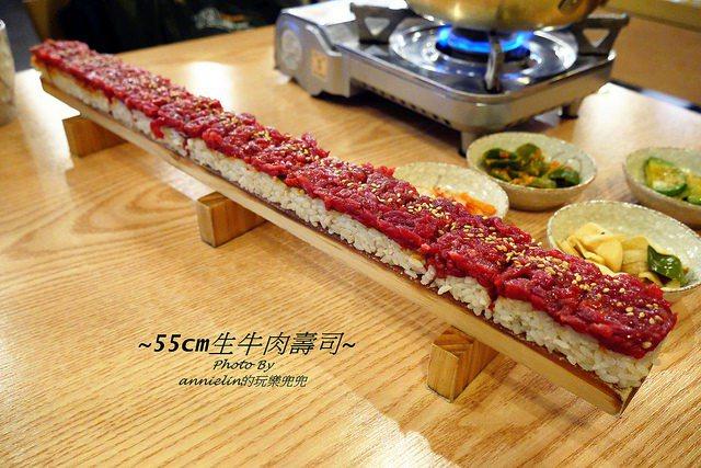 要吃韓牛就要來韓國,55公分韓牛壽司&生韓牛拌飯&牛骨湯,一次給你滿滿韓牛大平台...