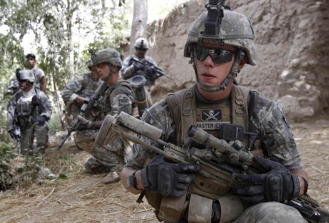 美軍三角洲部隊2010年在阿富汗作戰。 (路透)
