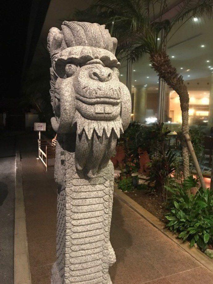 渡假村門口的石雕,我想是龍吧…(笑)圖文來自於:TripPlus