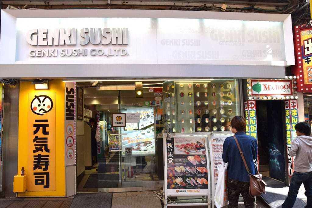 日本第五大迴轉壽司業者元氣壽司。(網路照片)