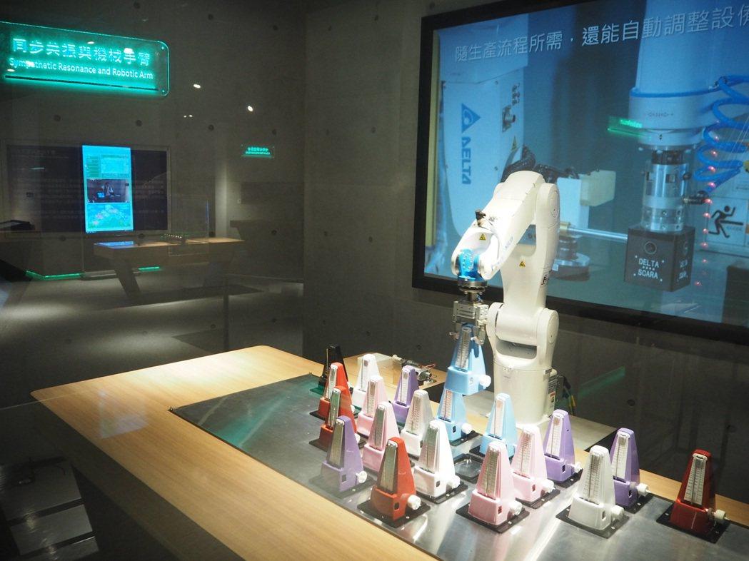科博館科學中心去年翻新,加入最新的機器手臂展示。記者喻文玟/攝影