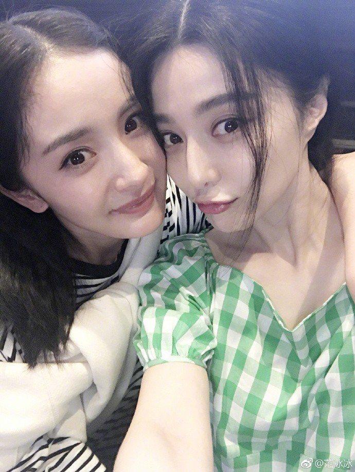 范冰冰(右)想與楊冪(左)合拍女同志電影。圖/摘自微博
