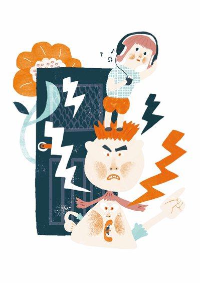 如果你們不小心在孩子面前爆發口角了,請立即進行損害控管。 圖/陳佳蕙