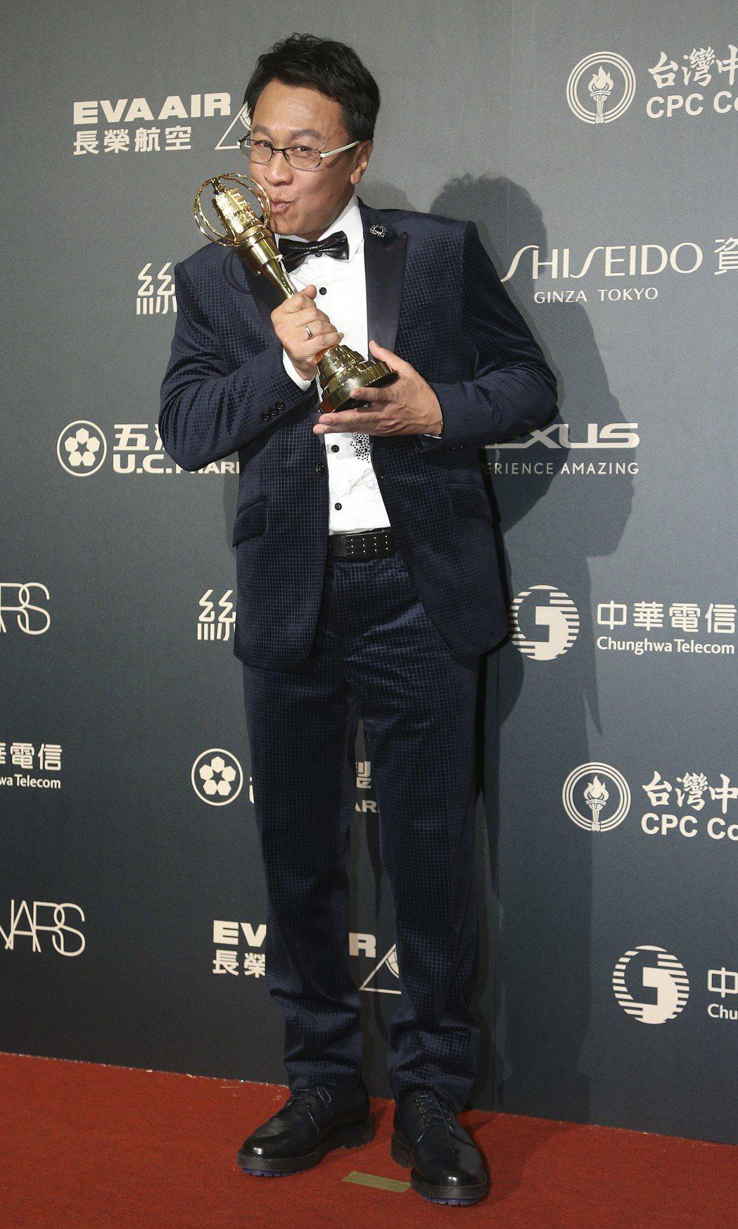 第52屆電視金鐘獎游安順獲戲劇節目男配角獎。記者黃威彬/攝影