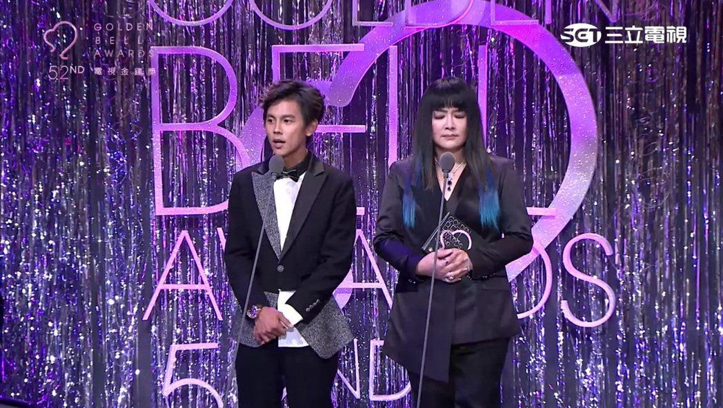 阿翔與「國師」唐綺陽頒發攝影和剪輯獎,兩人妙語如珠。 圖/擷自Youtube