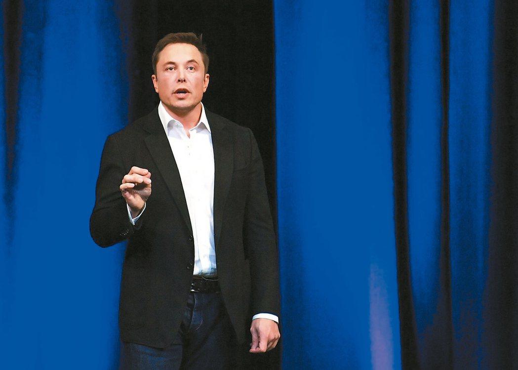SpaceX創辦人馬斯克(見圖)昨天宣布載人登陸火星和地球高速運輸計畫。 歐新社