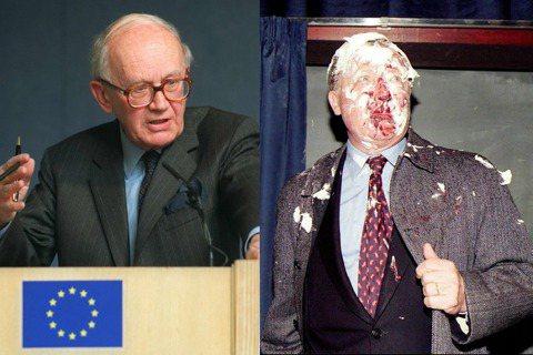 「歐元之父」法勒希(左)當年對歐元的警告並未受到重視;提出革新報告的戴洛(右),...