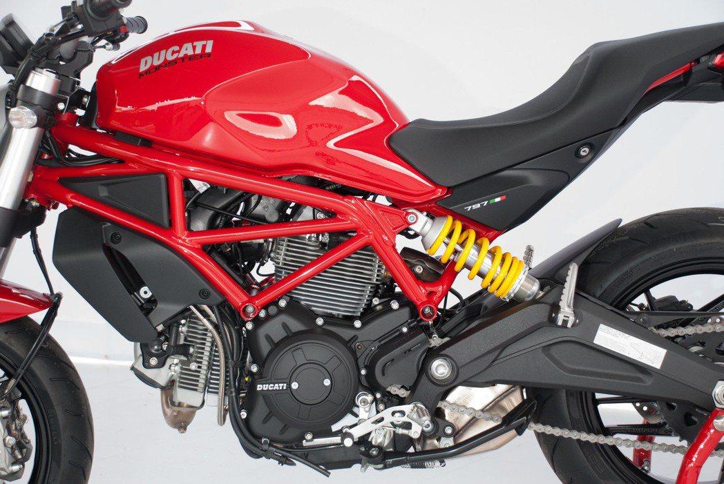 Ducati Monster 797使用排氣量803c.c.的Desmodue L-Twin引擎。記者林昱丞/攝影
