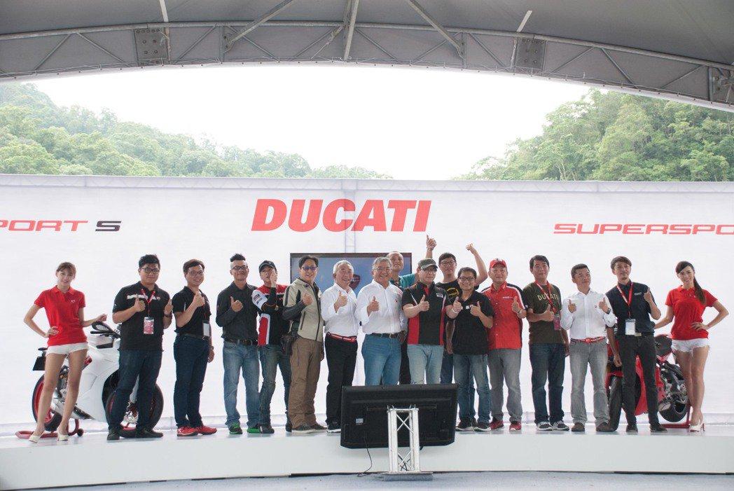 Ducati台灣總代理碩文一次發表四輛新車。記者林昱丞/攝影