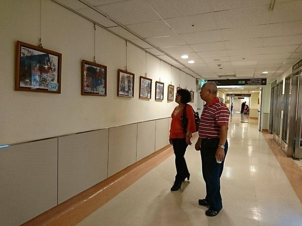 汐止長安國小孩子們的畫作在汐止國泰醫院的水返腳藝廊展出,歡迎民眾來欣賞,也給孩子...