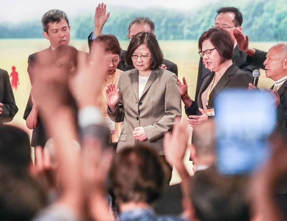 蔡英文總統今(30日)上午出席國家祈禱早餐會。記者鄭清元/攝影
