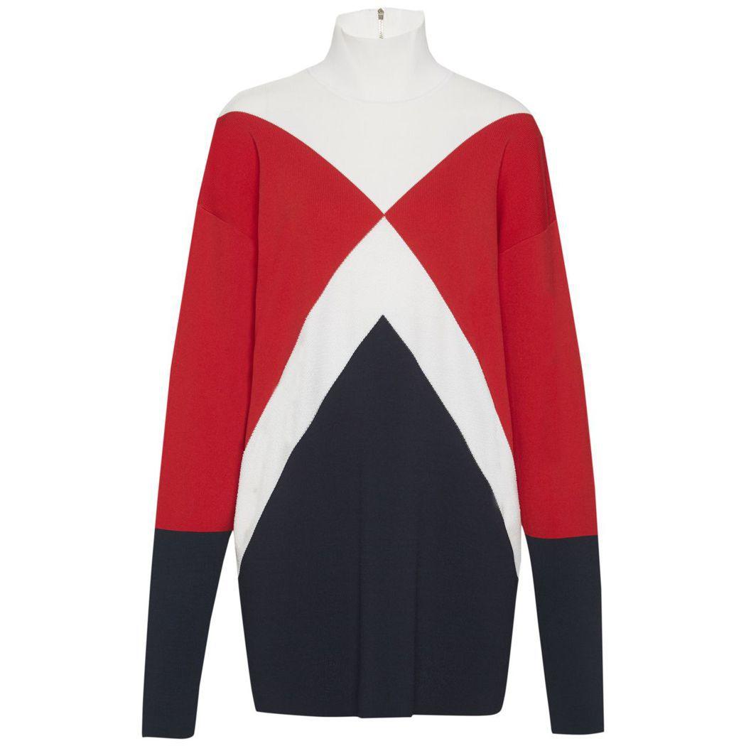 TommyXGigi 幾何拼接洋裝,8,380元。圖/Tommy Hilfige...