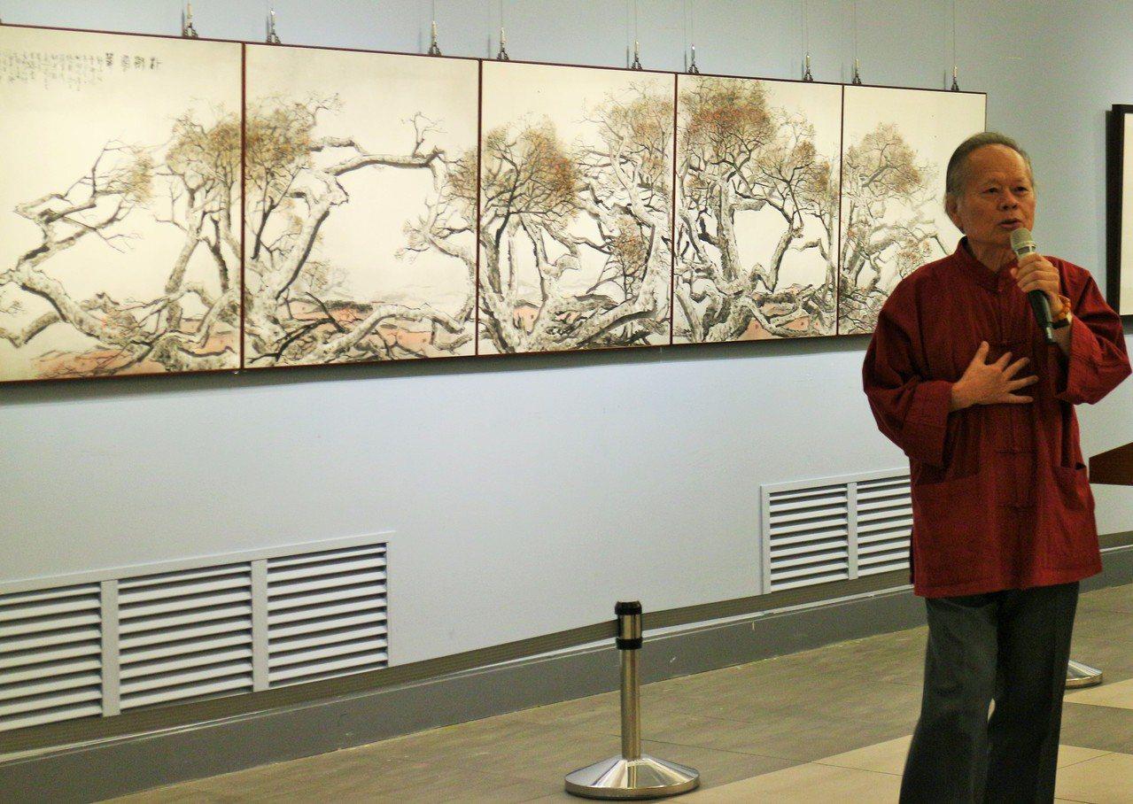 水墨畫家蔡友年輕時開始作畫,他不僅對繪畫持之以恆,還一路至大學、日本學習畫作技巧...