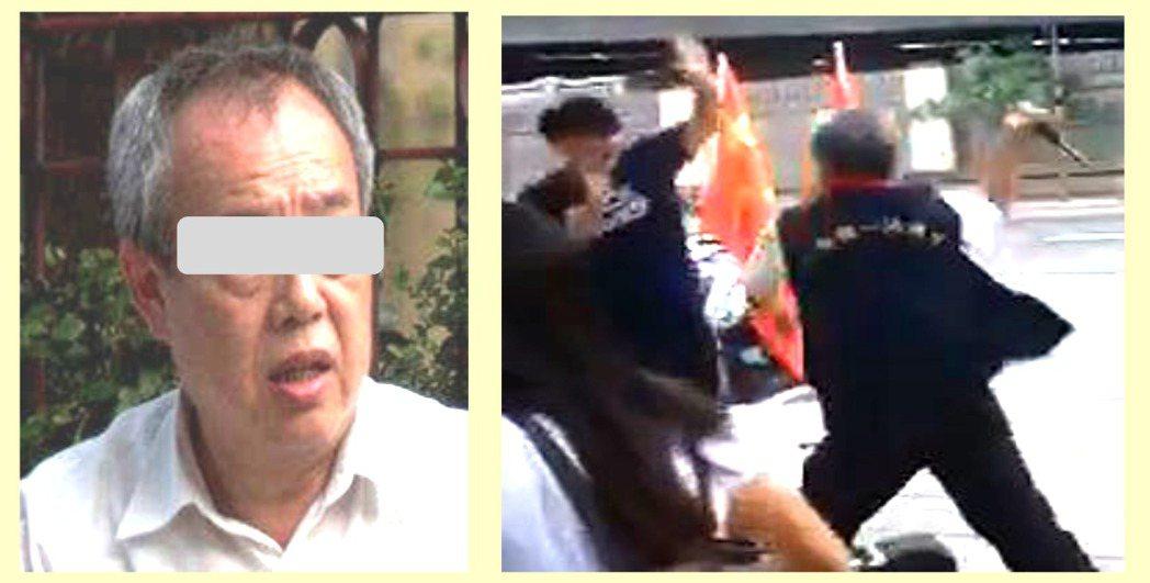 胡大剛涉嫌持甩棍打人。記者蕭雅娟/翻攝