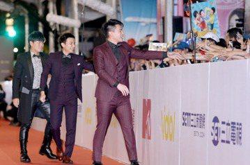 第52屆電視金鐘獎5566王仁甫、孫協志、許孟哲走星光大道。