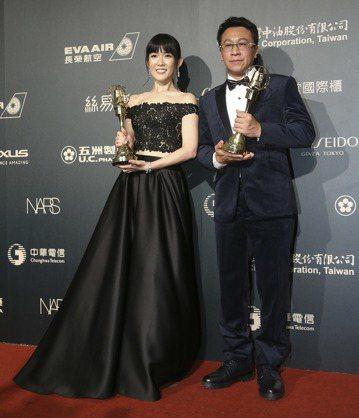 第52屆電視金鐘獎戲劇節目男女配角游安順、孫可芳。